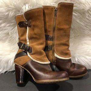 Timberland wood heeled boots